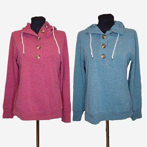 LOT OF 2 Button Front Sweaters Sz L